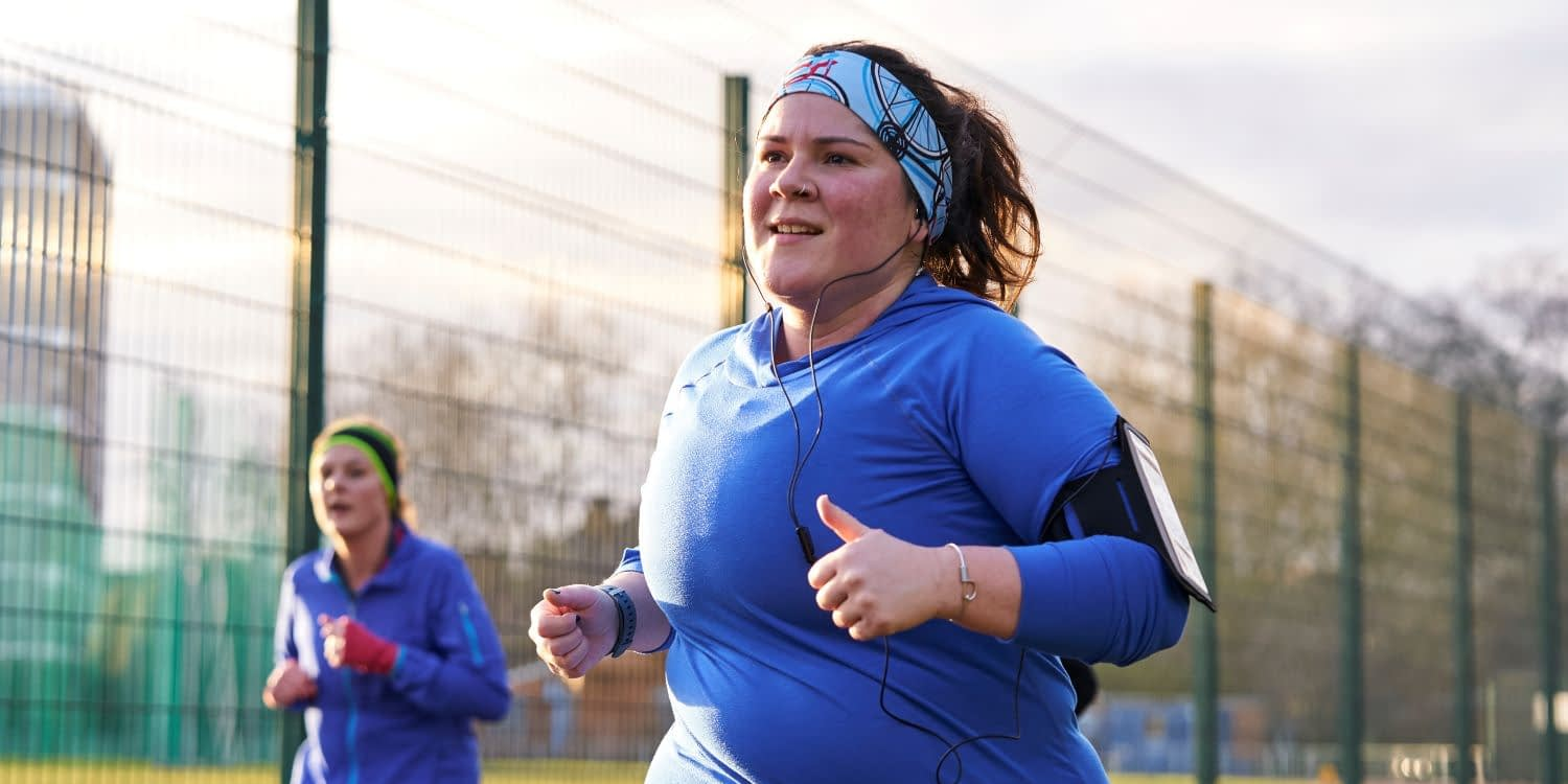This Girl Can image of woman jogging