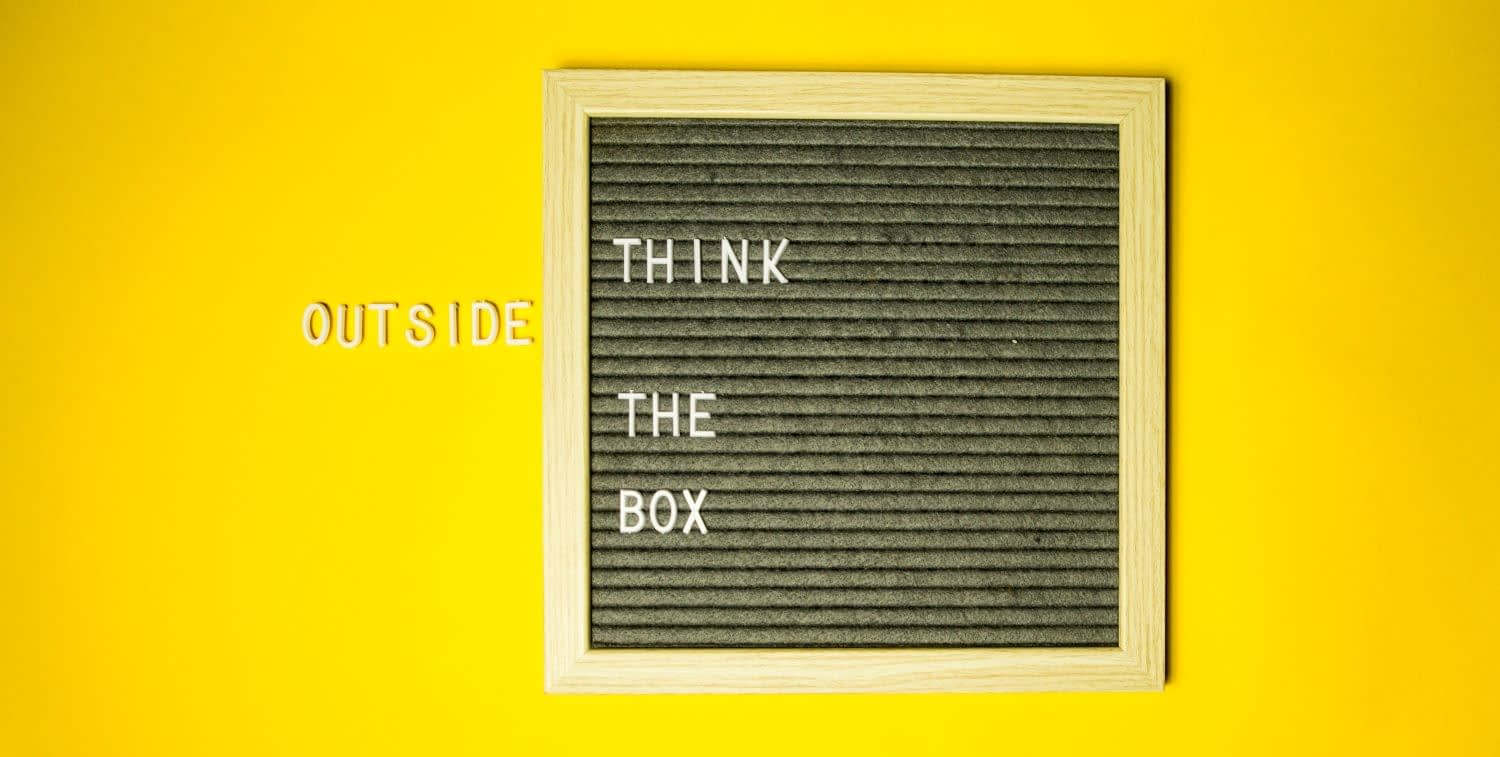 Words saying thinking outside the box