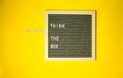 Words saying think outside the box