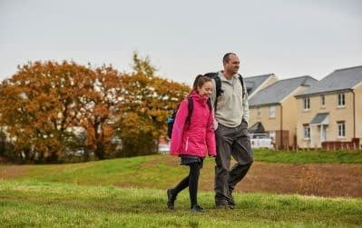 Cranbrook father and daughter walking