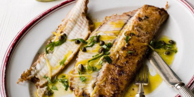 DOVER SOLE WITH LEMON & CAPER DRESSING