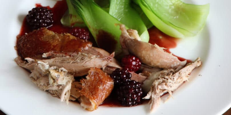 ROAST DUCK WITH BLACKBERRIES