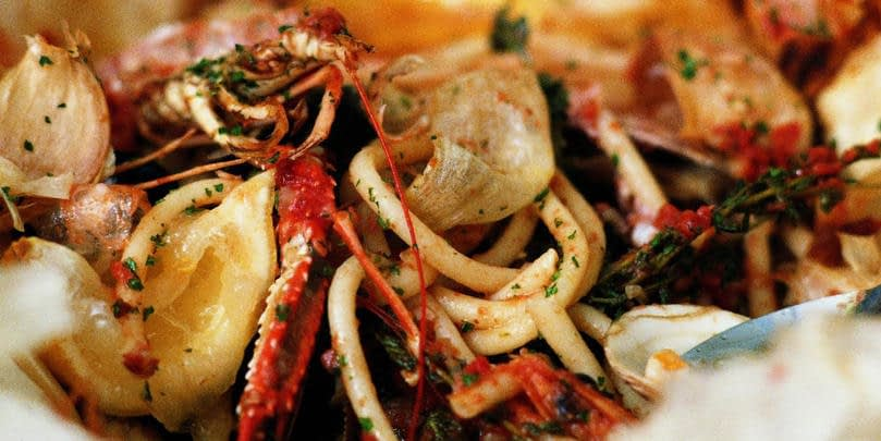 BAKED SHELLFISH WITH BUCATINI
